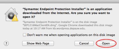 Image of Internet warning screen
