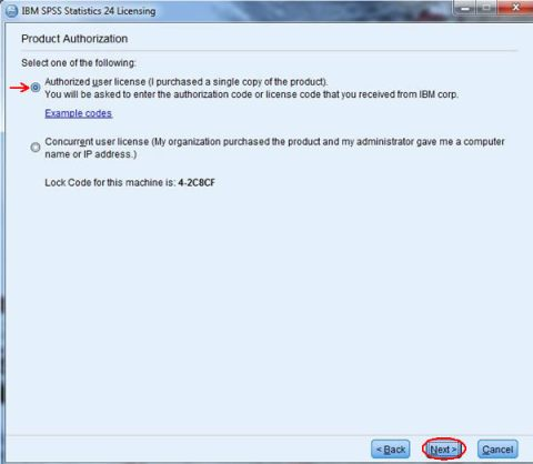 SPSS Product Authorization