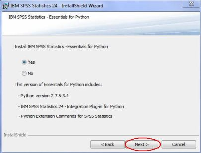 Image of SPSS Essentials for Python screen