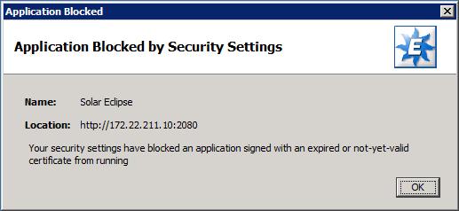 Application Blocked