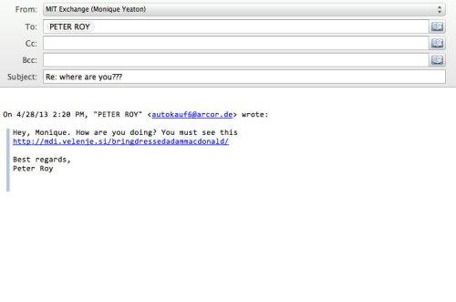 sample phishing email 2