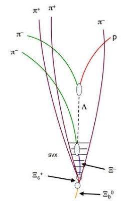 Цепочка распада нейтрального прелестного кси-бариона