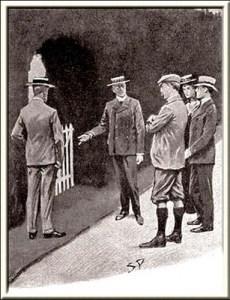 Illustration by Sidney Paget, The Strand Magazine, November 1901