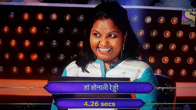Dr. Sonali Reddy KBC Contestant on the Hot Seat
