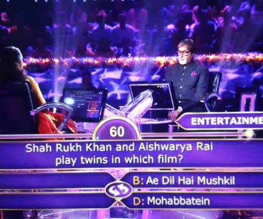 Ques : Shah Rukh Khan and Aishwarya Rai play twins in which film?