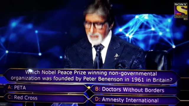 Ques : Which Nobel Prize winning non-governmental organisation was founded by Peter Benenson in 1961 in Britain?