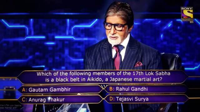 Ques : Which of the following members of the 17th Lok Sabha is a black belt in Alkido, a Japanese martial art?