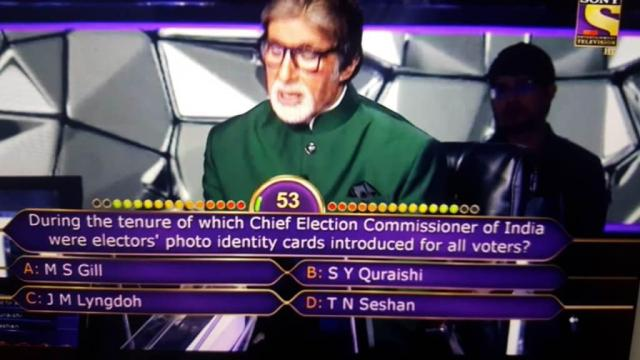 Ques : During the tenure of which Chief Election Commissioner of India were electors' photo identity cards introduced for all voters?
