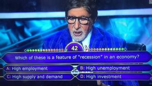 Which of these is a feature of recession in an economy