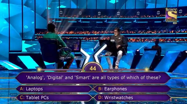 Sanni Khalas KBC Contestant option D Wristwatches
