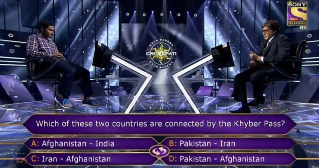 Ques : Which of these two countries are connected by the Khyber Pass?