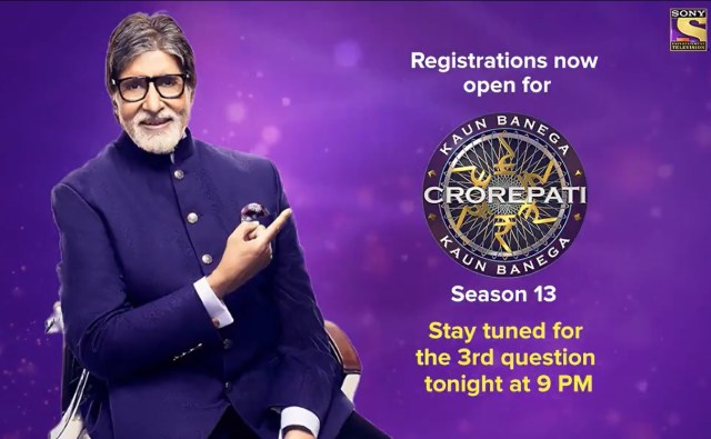 Here is the 2nd question of the KBC13 registrations – Answer before 9 PM tonight.