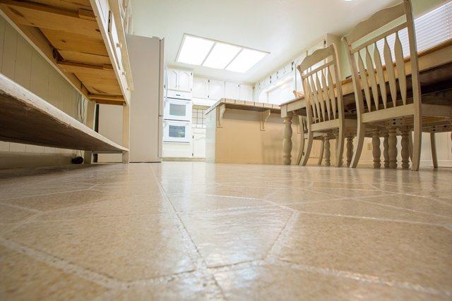 new hardwood kitchen flooring.