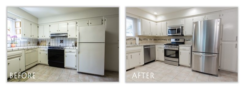 Lodi kitchen remodel before and after.