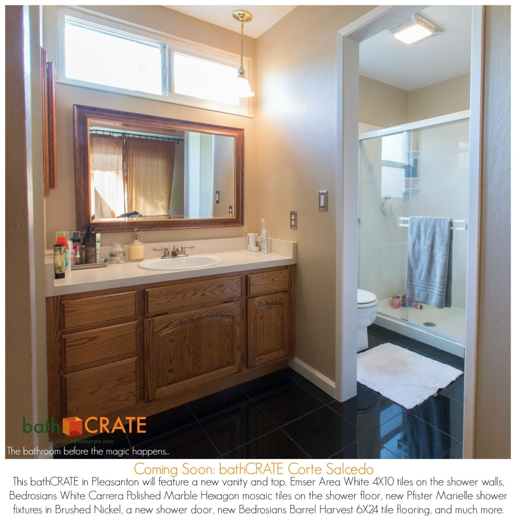 Bathroom remodel on Corte Salcedo, Pleasanton.