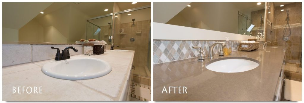 before and after vanity sink.