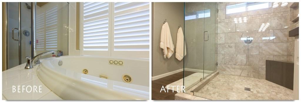Custom shower bathroom remodel.