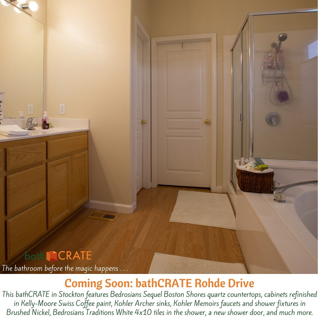 KitchenCRATE BathCRATE Rohde Drive Begins In Stockton CA - Bathroom remodel stockton ca