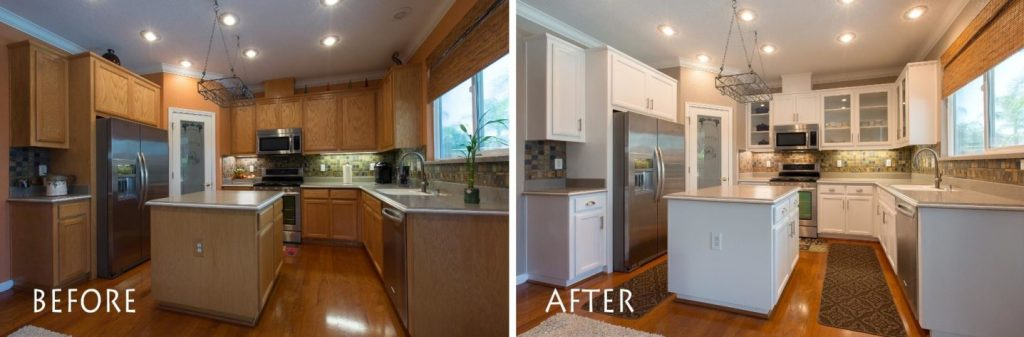 before and after kitchen remodel.