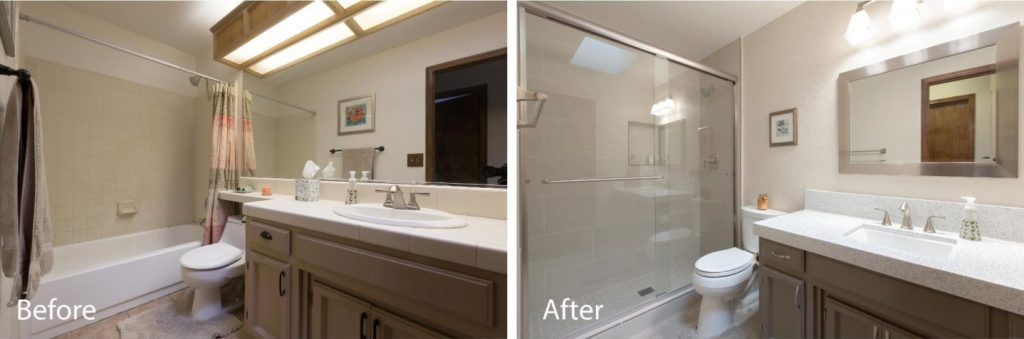 custom bathroom remodel.