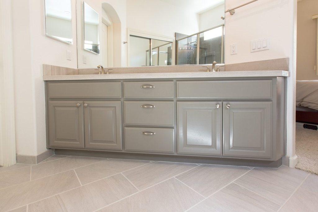 bathroom tile flooring.