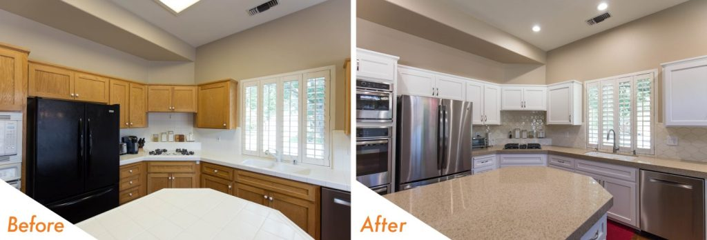kitchen remodel before and after.