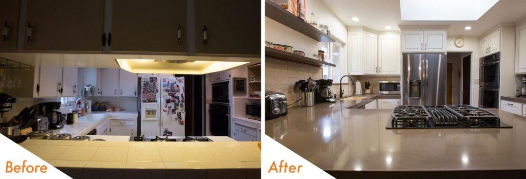 open concept kitchen remodel.