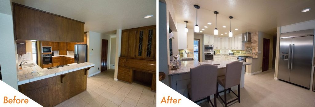 modern kitchen remodel before and after.