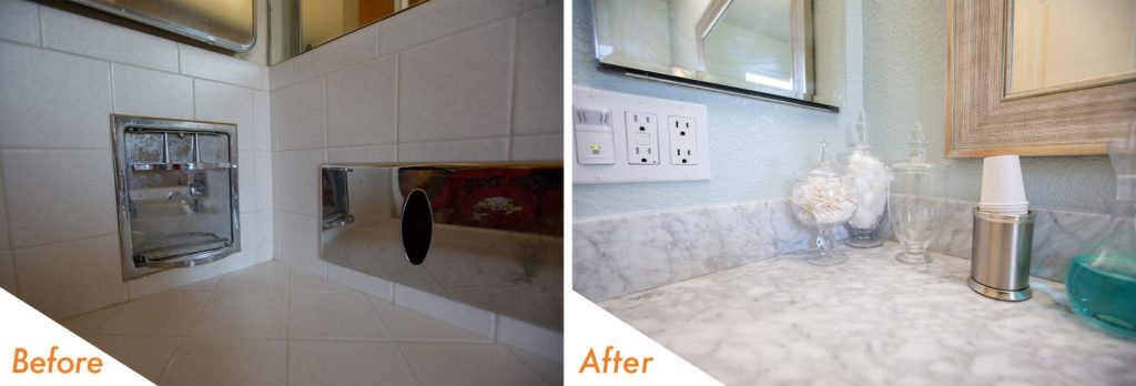 no more grout to clean!