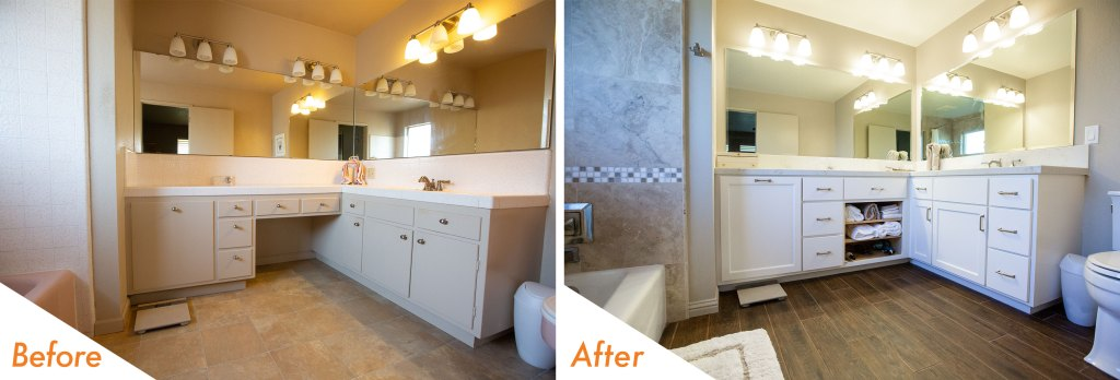 Bathroom remodel in Modesto, CA.