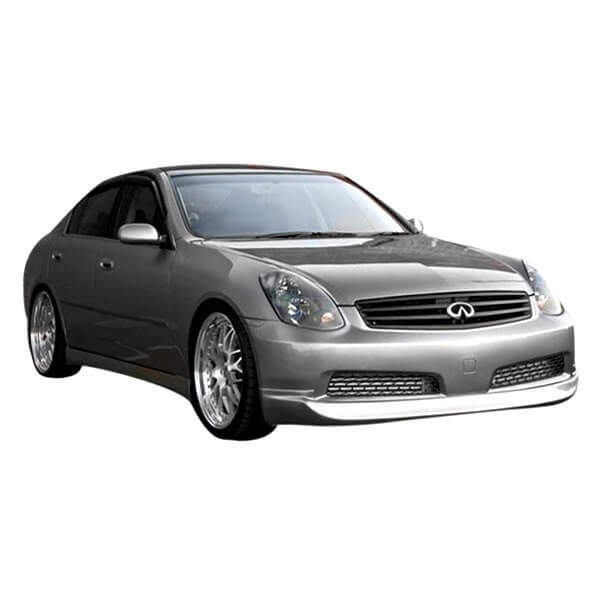 Made in the USA! Guaranteed Fitment Extremely Durable Easy Installation KBD Body Kits Compatible with Infiniti G35 4DR Sedan 2005-2006 IL Spec Style 1 Piece Flexfit Polyurethane Front Lip