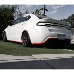 Dodge Dart 2013 2016 Demon Style 3 Piece Polyurethane Rear Wing Spoiler