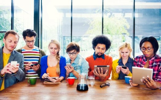 Millennials on devices