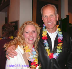 Lighthouse honoree Coach Mickey Hall with daughter Kasey, who participated in the dance sequence