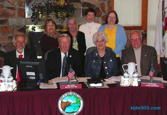 Lutheran Social Services staffers (from left) Bobbi Martinez and Pat Cormican, Tanya Perry and Eileen Hofer with City Council members (front left) Michael Karp, Bill Jahn, Liz Harris and Darrell Mulvihill on April 27.
