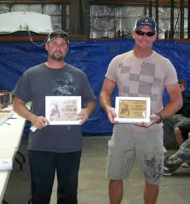 Top boat team of Bryan Foote and Scott Taglione of Fresno brought in 460 pounds of carp.