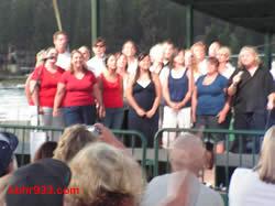 Locals join Gramm on stage