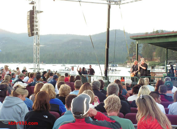 The Recreation and Park District pulled together an impressive stage for the Lou Gramm concert, which drew boaters to Swim Beach as well.