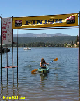Paddlefest was open to all levels; in fact, Emily Hansen of Vista, had only kayaked a few times before crossing the finish line in Sunday's 5K.