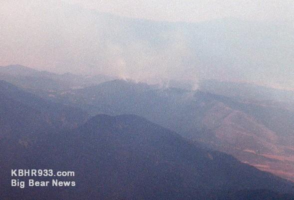 Oak Glen Fire as of 3:00 PM on 8-31-09