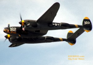 Air Fair featured a P-38 Lightning fly-by.