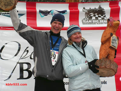 "Ted and Heather Devito were the early leaders in Conquer the Bear, having won the Snowshoe the Bear event, the first in the series. As the top locals in the event, they also won the perpetual ""Fastest Bears in the Bear"" trophies."