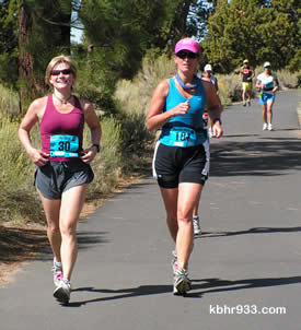 Michelle Cassling of Sugarloaf and Lisa Waner of Big Bear Lake have been training together, and both finished the marathon (again).
