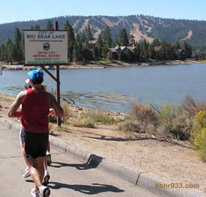 The City of Big Bear Lake has signs (as seen here on Stanfield Cutoff during the September marathon) designating our relationships with Sister and Friendship Cities.