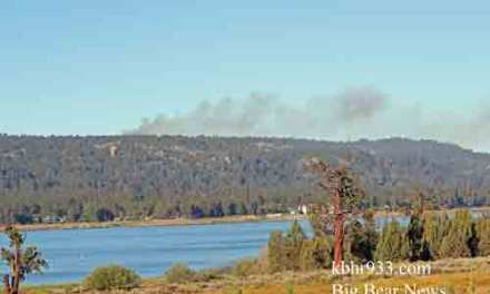 Small Fire Near Bluff Lake