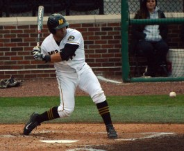 Senior infielder Shane Segovia went 0-6 on the night in Missouri's 2-1 loss to the Georgia Bulldogs on Friday, April 4, 2014. The series will continue on Saturday, April 5, and Sunday April 6 at Taylor Stadium in Columbia, Mo.