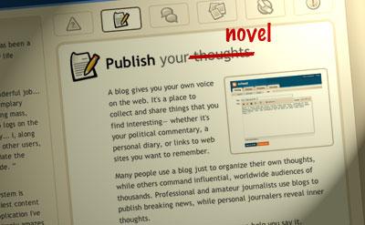 blogging your novel