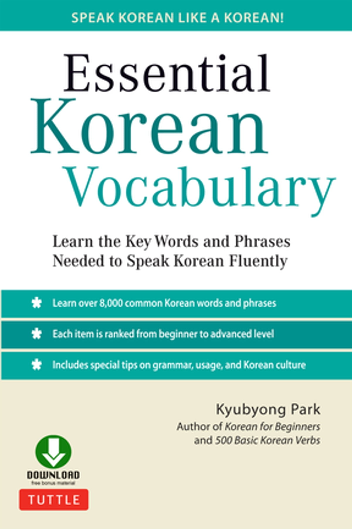 Essential Korean Vocabulary Ebook By Kyubyong Park