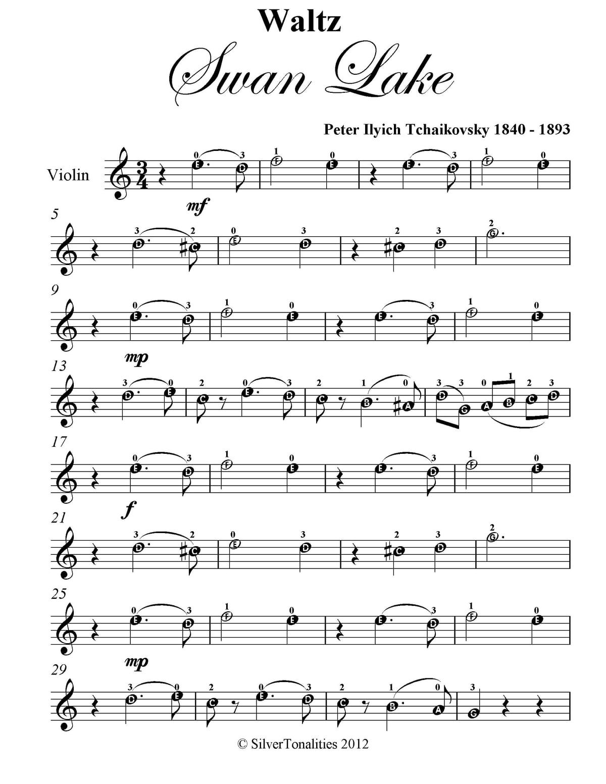 23 Free Violin Music Sheet Easy Printable Docx