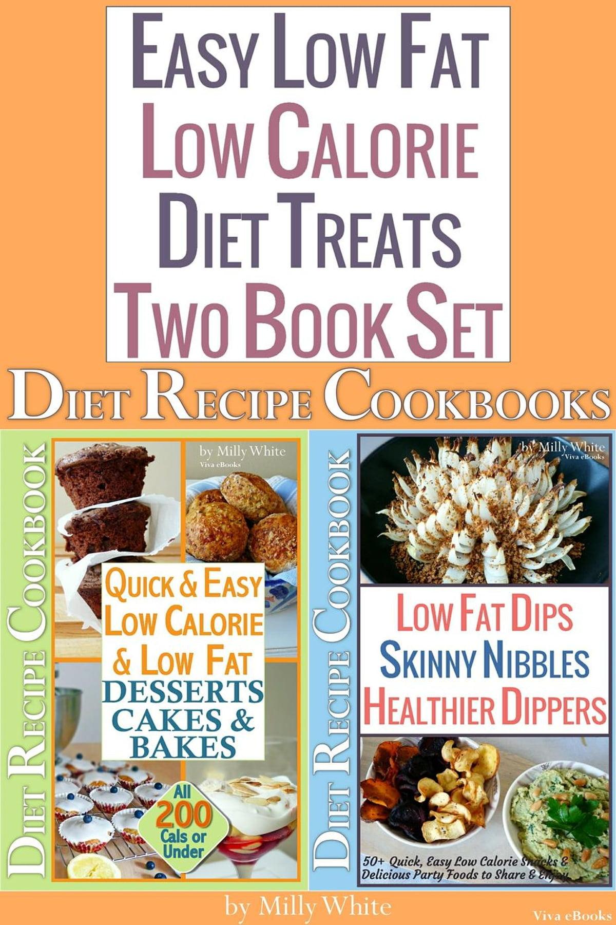 Easy Low Fat Low Caloriet Treats 2 Book Sett